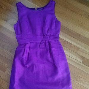 Kate spade bow waist dress. Purple. Sz 8.